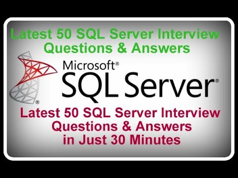 Latest 50 SQL Server Interview Question & Answers in Just 30 Minutes...!!