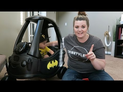 Batmobile out of Little Tikes Car