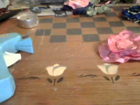 how to make a pretty pink flower bow