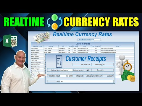 How to Create a Realtime Currency Rate Calculator with Multiple Currencies in Excel
