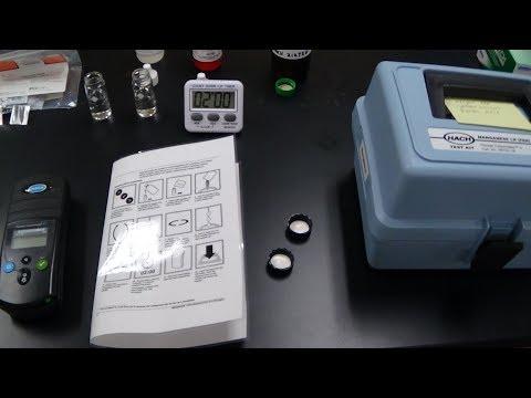 Manganese Low Range Hach Kit demo