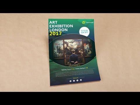 Illustrator tutorial - Art exhibition flyer template