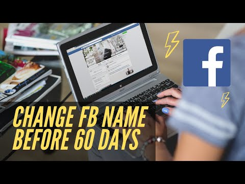 how to change facebook account  name before 60 days