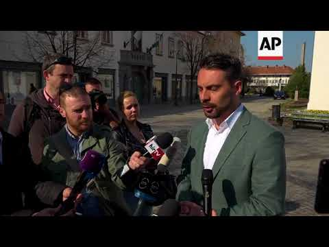 Jobbik party candidate Vona casts ballot in Hungary election