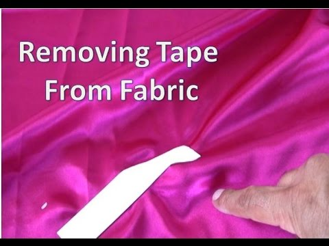 Removing Adhesive Tape from Fabric