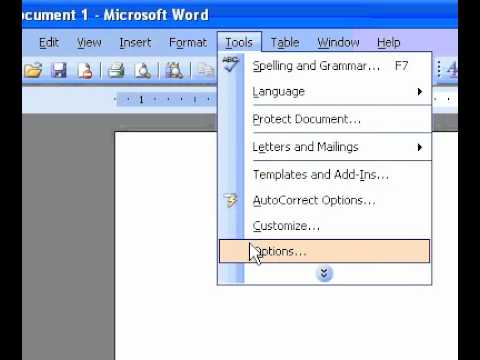Microsoft Office Word 2003 Change the default unit of measure