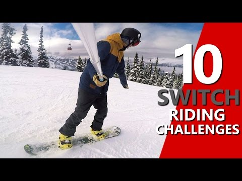 10 Switch Snowboard Riding Challenges
