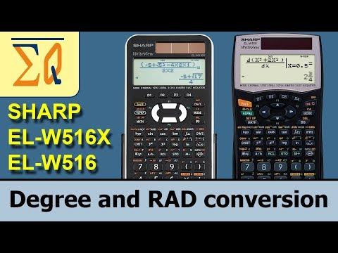 Sharp EL-W516X EL-W516 convert Degree Radian angle