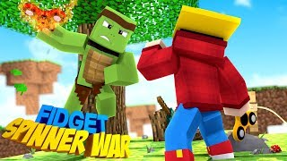 Minecraft - FIDGET SPINNER WAR - CUSTOM FIDGET SPINERS MOD