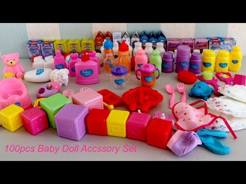 Baby Dolls 100 Piece Accessory and 4-in-1 Nursery Centre  Baby Born Baby Annabell