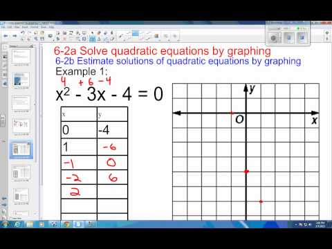 6 2 example 1 two real solution by graphing