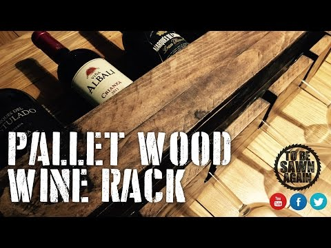 Building a Pallet Wood Wine Rack