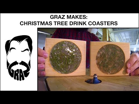 Graz Makes: Christmas Tree Drink Coasters