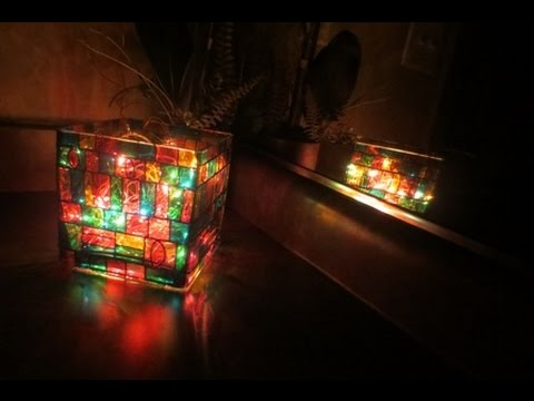 DIY Stained Glass Mosaic jar-Candle/Brushes Holder | Vase - Showpiece