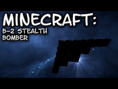 Minecraft: B-2 Spirit Stealth Bomber Tutorial