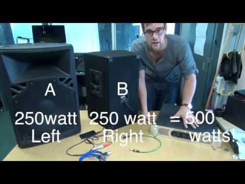 Powered and passive speakers - basics