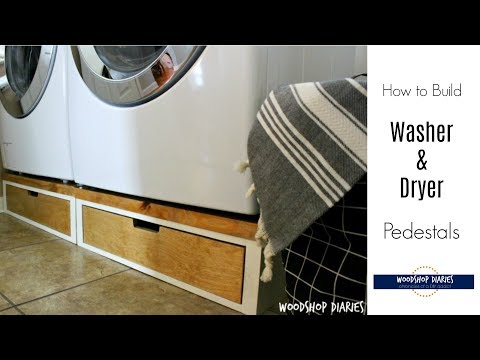 How to Build Washer and Dryer Pedestals with Drawer