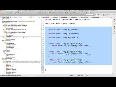 Keyword Class Modification in Keyword Driven Framework Video-11