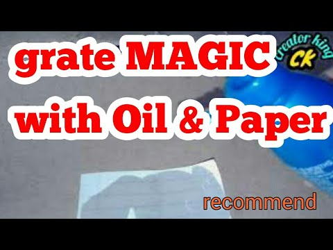 Remove oil from paper creatively (reverse magic )