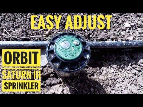 How to Adjust Orbit Saturn III Sprinkler - Simple!