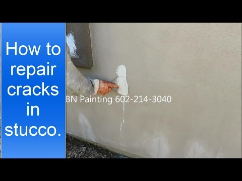 How to repair cracks in stucco. Fixing stucco cracks before painting.