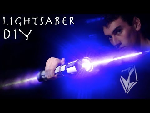 Make a Double Bladed Lightsaber!!! (REAL BURNING LASER LIGHTSABER)