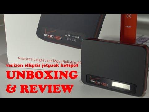 Unboxing and Review of Verizon 4G LTE Ellipsis Jetpack MHS800L hotspot