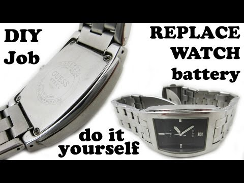 How To Replace Dead Battery Of Wristwatch Watch With Phillips Head Screws Back Cover - DIY DIYdoers