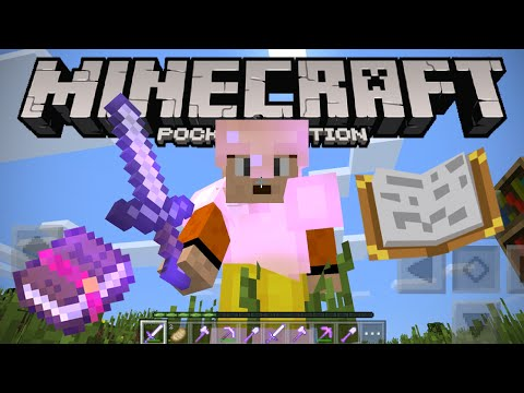 AWESOME ENCHANTMENTS IN 0.12! - Minecraft PE - Enchanted Weapons & Tools Showcase (Pocket Edition)