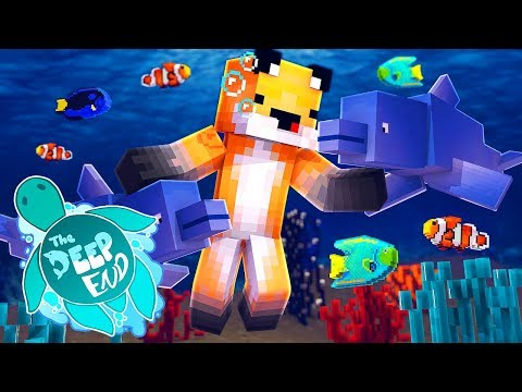 Minecraft The Deep End - Pranked By Dolphins!