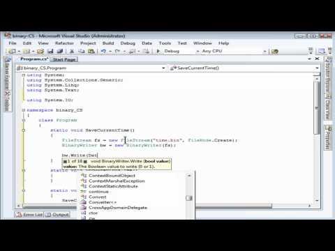 Reading and Writing Binary Files using C#