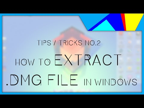 [ WIN Tips/Tricks 2 ] How to extract .DMG file in Windows 7