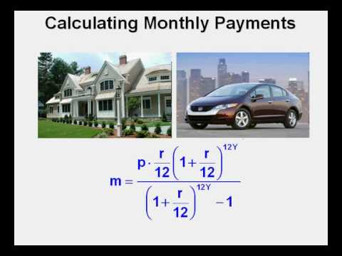 Calculating Monthly Payments