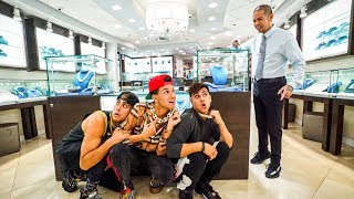WE GOT LOCKED INSIDE A JEWELRY STORE FOR 24 HOURS!