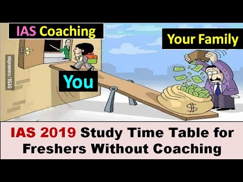 IAS 2019 Complete One Year Study Timetable for Freshers without Coaching ( Eng+Hindi)