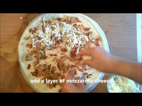 How to: Make a Carmelized Onion and Bacon Pizza
