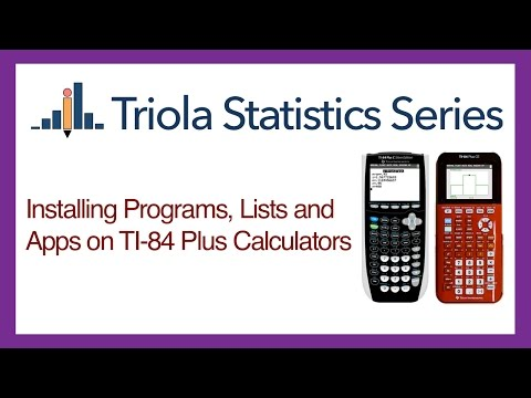 Installing Programs, Lists and Apps on TI-84 Plus Calculators