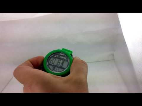 How to set time on Q&Q digital watch