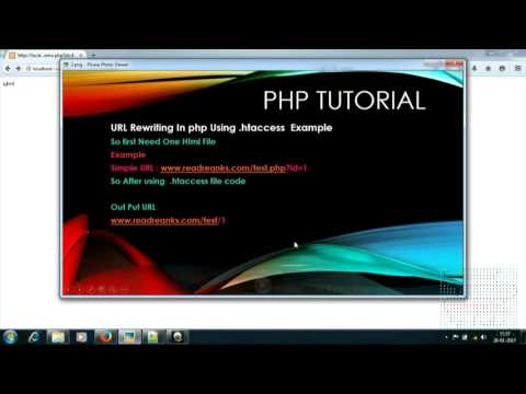 URL rewriting with PHP