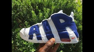 776f459aabed6a Quick Look At The Nike Air More Uptempo Knicks Edition With Pippen s Dunk  On Ewing