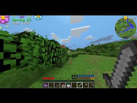NEW BUILDINGS!! Minecraft Farming Valley #2