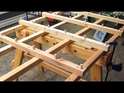 The 3 leged saw horse has a fold away sawtrak cutting table