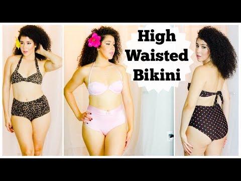 High Waisted Bikini   Vintage Swimsuit   Pinup Bikini