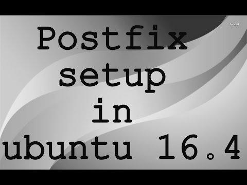 Postfix setup in ubuntu 16.4