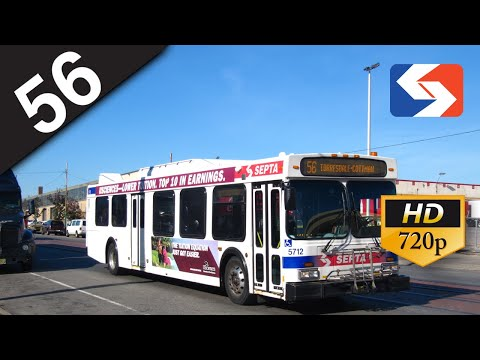 SEPTA Ride: 2003 New Flyer D40LF #5707 on route 56 to Torresdale-Cottman