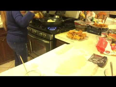 How to deep fried Patongko