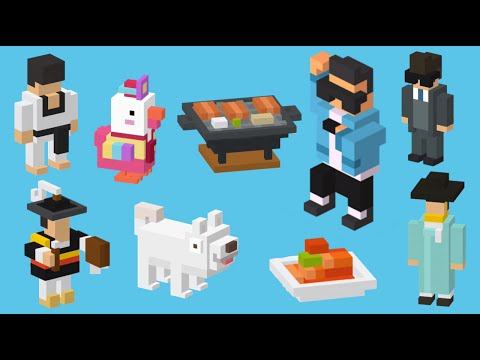 ALL NEW 10 Korean Characters Gameplay Crossy Road | iOS, Android