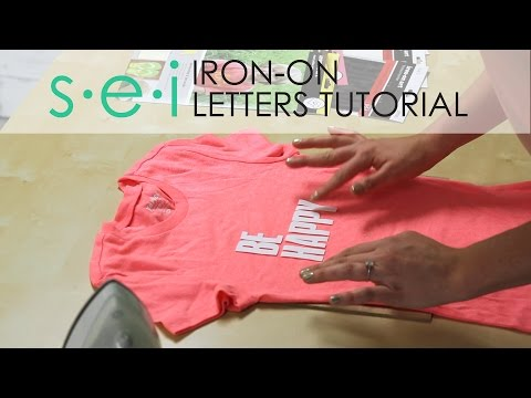 DIY Iron On Transfers: LETTERS - Be Happy Shirt