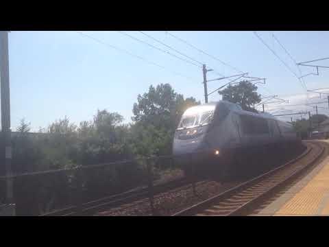 Amtrak Acela Flies Through Mystic CT