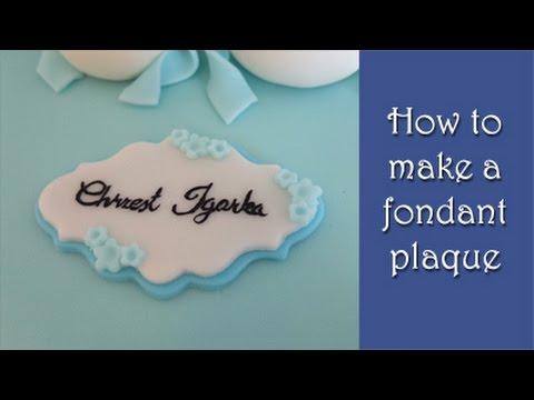 How to make a fondant plaque tutorial / Jak zrobić plakietkę z masy cukrowej
